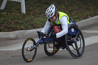 Holly Koester incurred a spinal injury as a result of a motor vehicle accident and is now a wheelchair racer