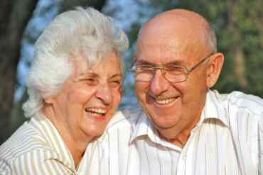A happy elderly couple