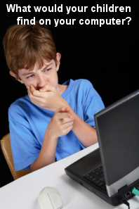 Child finding pornography on his computer